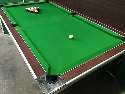 7 x 4 ft Slate Bed Pool Table - New cloth -