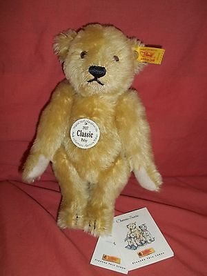 Steiff Classic 1927 replica Teddy Bear Petsy 006432 button mohair jointed hump