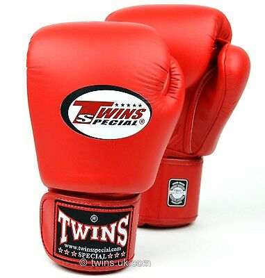 Twins Bgvla-2 Breathable Muay Thai/Boxing Gloves Red 10oz.