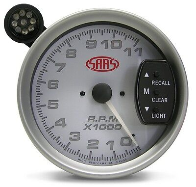 Genuine Saas Large Monster 5 Inch Tachometer Tacho With Led Shift Light