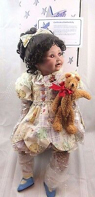 """Amy Burgess """"Naomi"""" Premiere Artists 28"""" African American Porcelain Doll"""
