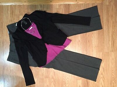 Women's 4 Pc Outfit: Miss Me Lg Blazer; 14 Top; NWT 12 Pants; NWOT Jewelry Set