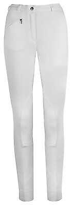 BNWT Goldstar Equestrian Ladies Kerry Riding Jodhpurs - White, Size UK 12