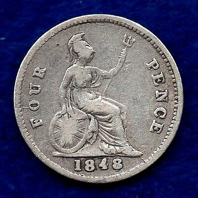 Great Britain, Victoria, 1848/7/6 Fourpence (Ref. c5739)