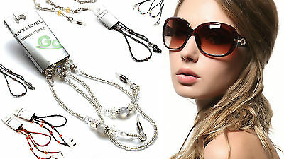 Beautiful Womens Glasses or Work ID Badge Retainer Neck Chain Sunglasses Reading
