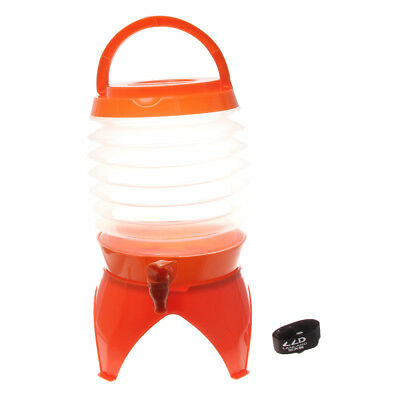 Fresh & Cold 5 Litre Collapsible Plastic Cocktail Water Cold Drink Dispenser
