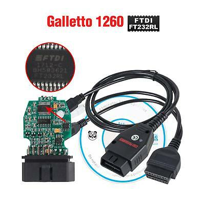 Galletto 1260 EOBD OBD 2 ECU Diagnostic Cable Programmer Remap Flasher Tunning