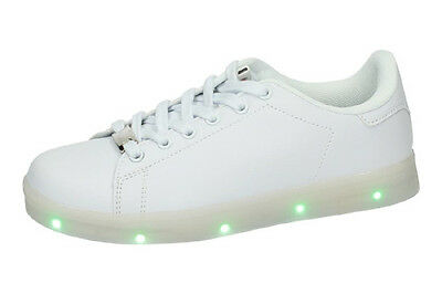 Tenis luces leds usb. DEMAX.  &    . MUJER. BLANCO