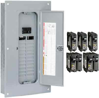 Square D NEW 100Amp Main Breaker Box Indoor Electrical 24-Space 48-Circuit Panel