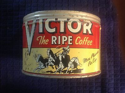 Vintage Victor The Ripe Coffee One Pound Tin No Lid