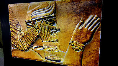 Ancient Aliens Anunnaki Art in 3-D poster leather like feel size 11x17