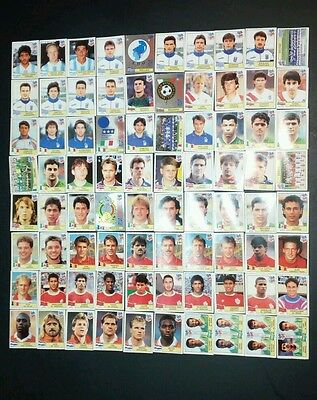 Usa 94 Panini Stickers Lot 80 Differents No Dobles All With Original Black Back