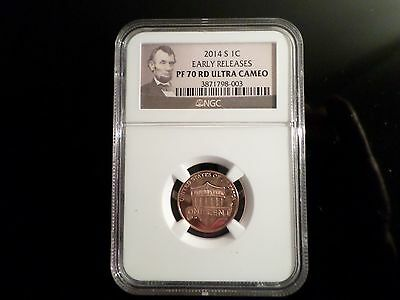 2014S Lincoln Proof Penny NGC PF70 ER Portrait