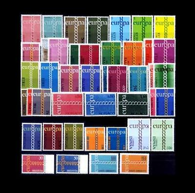 Cept Europa 1971 ** annata completa MNH beautiful and complete collection 81,00