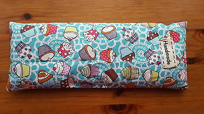 Relaxing Yoga Eye Pillow, filled with rice & lavender, handmade in the UK
