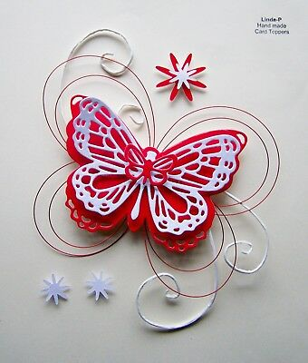 """valentines Day"" 3D Hearts, Flower & Wire Design Card Craft Topper Val 07/17"