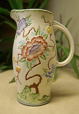H. J. Wood - Chinese rose jug 9 inches tall