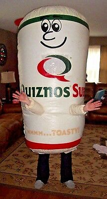 Quiznos Inflatable Cup Costume with 3 12 Volt Batteries, 2 Chargers, and Motor