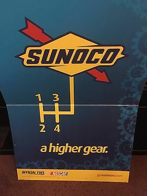 Sunoco Gas Station Advertising Poster NASCAR A Higher Gear 48 x 32