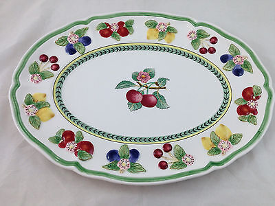 "Villeroy & Boch French Garden Figural Platter 18""x 13"" NWT Free US Shipping"