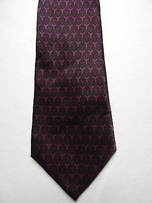 Cravate YVES SAINT-LAURENT violet 100% soie made in Italy