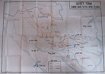 VC NLF Tactical Operation Map, QUYET TAM CHIEN DICH TCTH. 1972 at QK. 8 Big Map