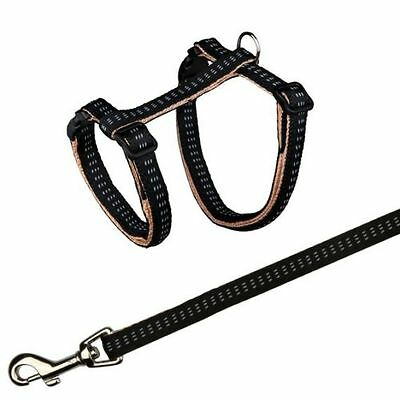 Elegance Cat Ajustable Comfortable Harness with Lead Nylon Leash by Trixie