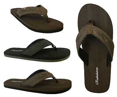 New Boys' Beach Sandal TRIBAL Tattoo Engraved Flip Flop size 12-6..( 525 K )