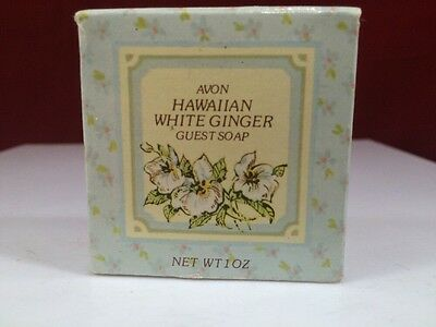 Vintage Avon Hawaiian White Ginger Guest Soap  in box
