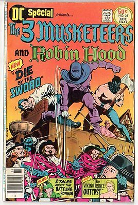 DC Special;The Three Musketeers & Robin Hood Comic Book #25/Bronze Age/1976-1977