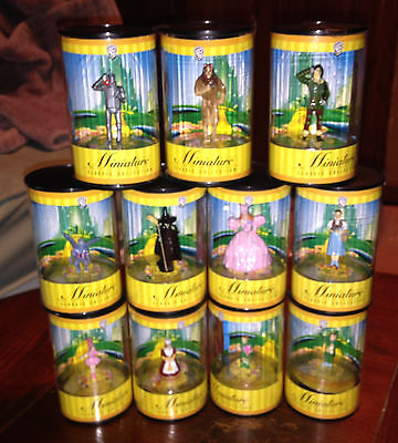 11 Pc New Htf 1999 Wb Wizard Of Oz Miniature Classic Collection Warner/real Pics