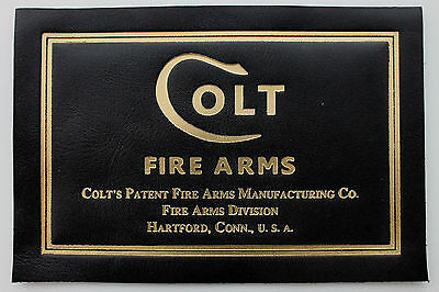 COLT PRESENTATION CASE BOX LABEL 1911 A1 python anaconda mustang government