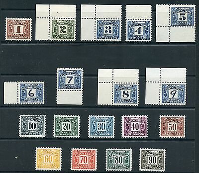 Weeda Canada FPS2/FPS22 VF mint NH Pristine part set of First Issues CV $129.75