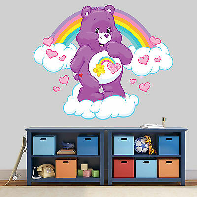 New Xl 216 Care Bear Rainbow Cloud Sticker Room Boys Girls Vinyl Wall Art Decal