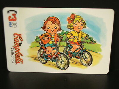 "Campbell's `95-Collection - ""Subset Set Chase""  ""$3.00 Prepaid Phonecard-Bikers"""
