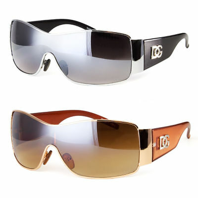 DG Eyewear Womens Mens Shield Designer Sunglasses Shades Fashion Retro Wrap Bla