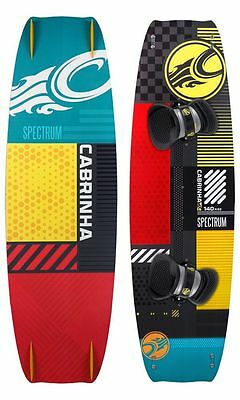 New 2015 Cabrinha Spectrum Kiteboard 132X40 Complete w/ Fins and H2 Footstraps
