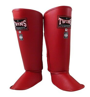 Twins Special Sgl-2 Shin Guards Size S In Red.
