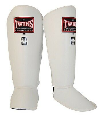 Twins Special Sgl-2 Shin Guards Size M In White.