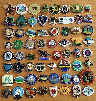 Bowling Club Badge Bulk Collection 64 Rare Vintage Items No Clasps