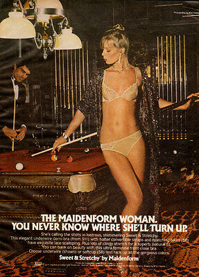 1970s vintage Lingerie AD MAIDENFORM Sweet and Stretchy Demi Bra Panties 040116