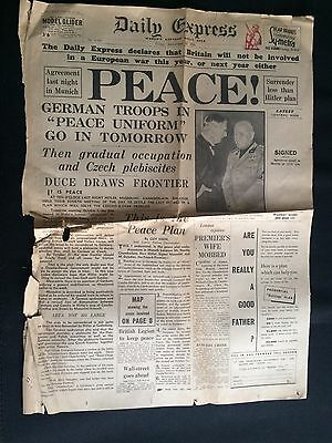 Daily Express September 30th 1938 - PEACE!! German Troops in 'Peace Uniform'