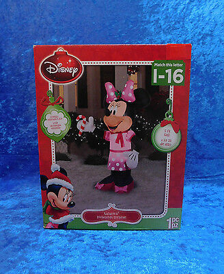 5' Airblown Inflatable Minnie Mouse LIGHTS UP Christmas