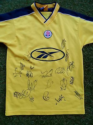 BOLTON WANDERERS Shirt Hand Signed by 2016/2017 Squad - 20 Autographs - Clough