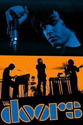 The Doors Jim Morrison American Rock Band Vintage Music Silk Poster 13×20 24×36""