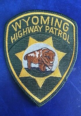 Wyoming Highway Patrol Police Shoulder Patch Wy 2