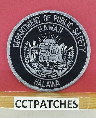 Hawaii Department Of Public Safety Halawa Subdued (Police) Shoulder Patch Hi