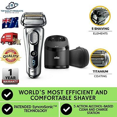Braun Series 9 Shaver Mens 9290cc Electric 3D Hair Razor Wet Dry Easy to Use New