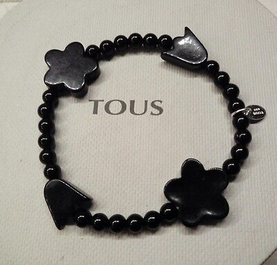 Autentic original Tous Tribu MING Black agate bracelet