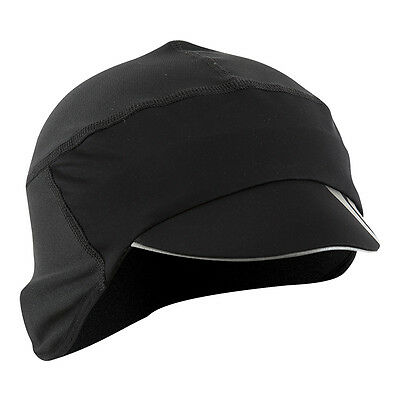 NEW Pearl Izumi Unisex Barrier Cycling Cap Hat Windproof Thermal Black One Size